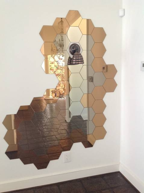 Honeycomb Mirror + Beehive Wall Sconce Light | Decorate With Intended For Hexagon Wall Mirrors (View 8 of 15)
