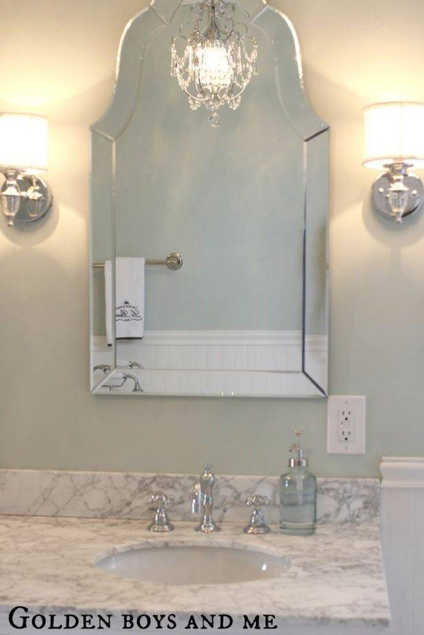 House : Appealing Beveled Glass Bathroom Mirrors Bathroom Wall Intended For Large Beveled Wall Mirrors (View 12 of 15)