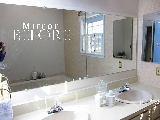 How To Frame A Bathroom Mirror Throughout Framing Bathroom Wall Mirrors (#10 of 15)