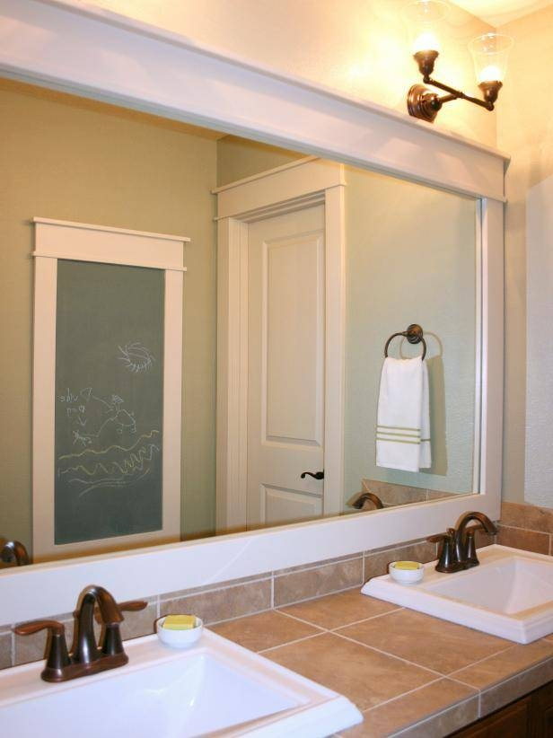 How To Frame A Mirror | Hgtv With Frames For Bathroom Wall Mirrors (#10 of 15)