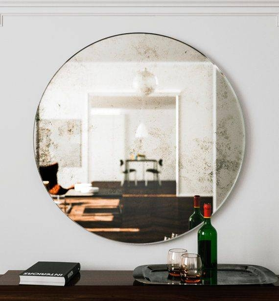 How To Hang A Round Mirror – Round Designs Within Frameless Round Wall Mirrors (#14 of 15)