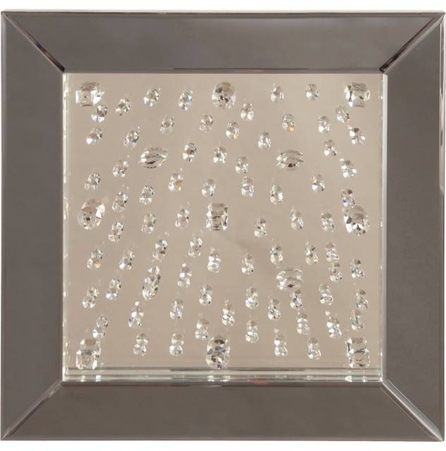 Howard Elliott Bliss Crystal Mirror 99008 – Contemporary – Wall With Crystal Wall Mirrors (#8 of 15)