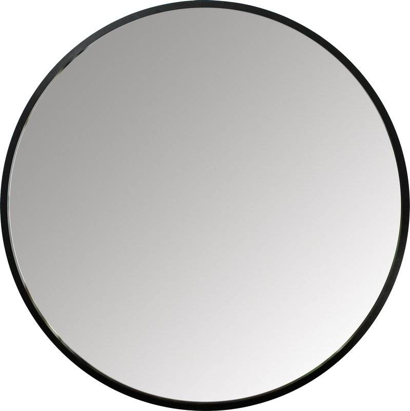 Hub Wall Mirror & Reviews | Allmodern For Black Round Wall Mirrors (#8 of 15)