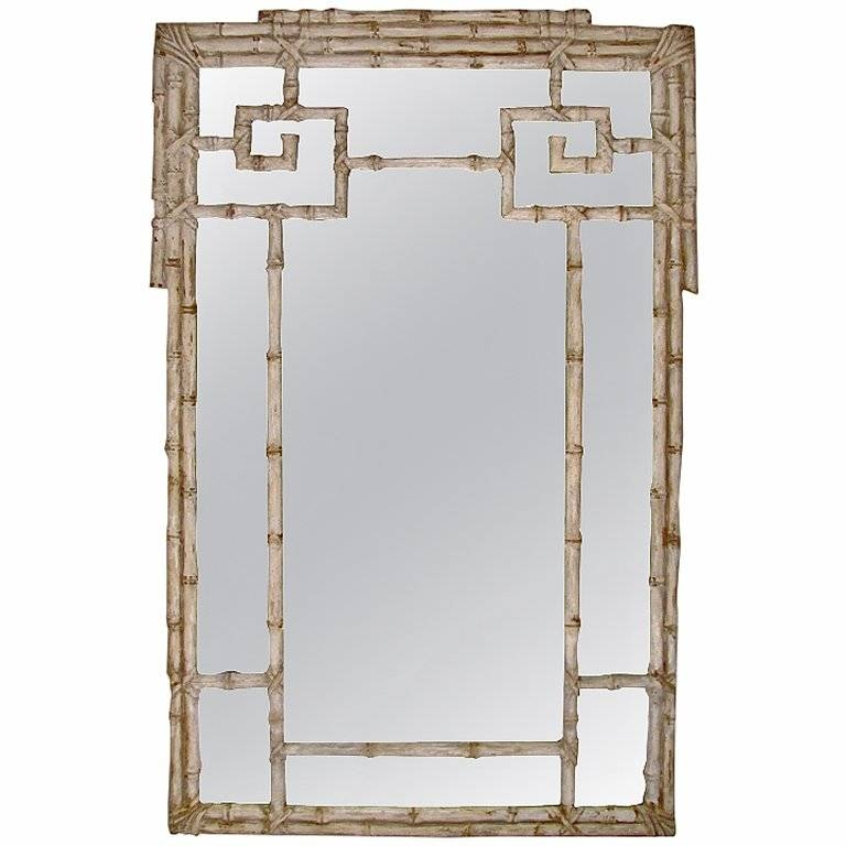 Huge Itailian Carved Wood Faux Bamboo Wall Mirror At 1Stdibs Throughout Bamboo Wall Mirrors (#9 of 15)