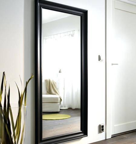 Ikea Large Black Mirror Uk Ikea Large Mirror Mongstad Hemnes A Throughout Large Black Wall Mirrors (#10 of 15)