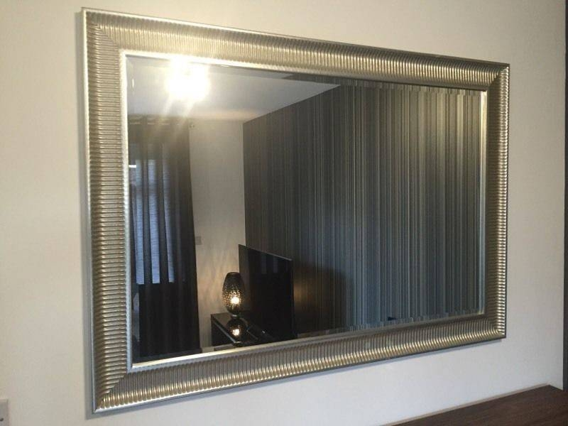Ikea Songe Large Silver Framed Wall Mirror | In Coventry, West With Regard To Ikea Wall Mirrors (#6 of 15)