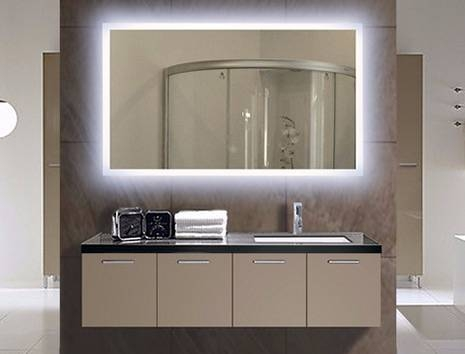 Illuminated Bathroom Mirror | Lighted Wall Mirrors For Bathrooms Intended For Illuminated Wall Mirrors (#10 of 15)