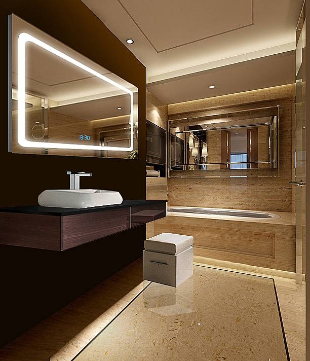 Illuminated Mirrors And Led Backlit Bathroom Mirrors Pertaining To Led Illuminated Bathroom Mirrors (#9 of 15)