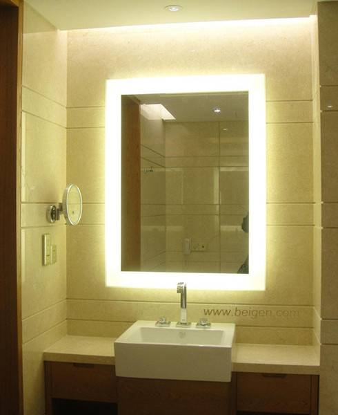 Illuminated Vanity Mirror, Backlit Vanity Mirror Lighted Bathroom With Regard To Illuminated Wall Mirrors For Bathroom (#12 of 15)