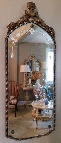 Image Result For Round Vintage Etched Mirror | Mirror Mirror Inside Etched Wall Mirrors (#9 of 15)