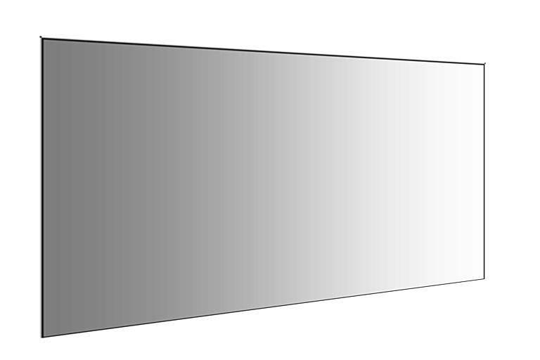 Impressive Plain Wall Mirror Home Gym Mirrors Ebay Vanities Within Plain Wall Mirrors (#8 of 15)