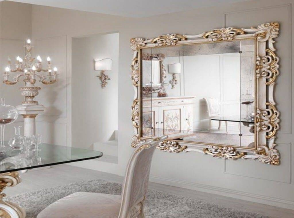 Inexpensive Round Wall Mirrors Decorative With Metal Leaf Frames With Inexpensive Large Wall Mirrors (View 7 of 15)