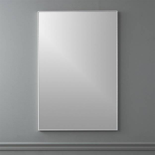"Infinity 24""x36"" Rectangular Wall Mirror | Cb2 In Infinity Wall Mirrors (#5 of 15)"
