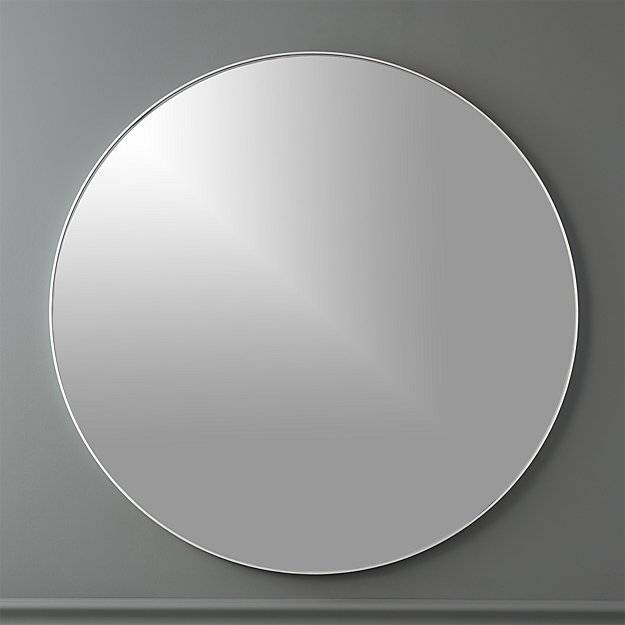 """Infinity 36"""" Round Wall Mirror   Cb2 Regarding Silver Round Wall Mirrors (View 10 of 15)"""