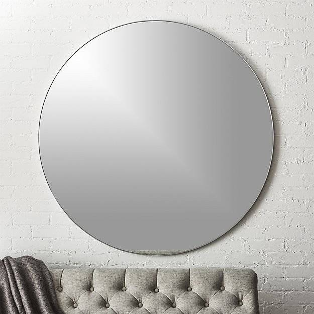 Infinity Silver Round Wall Mirror 48"