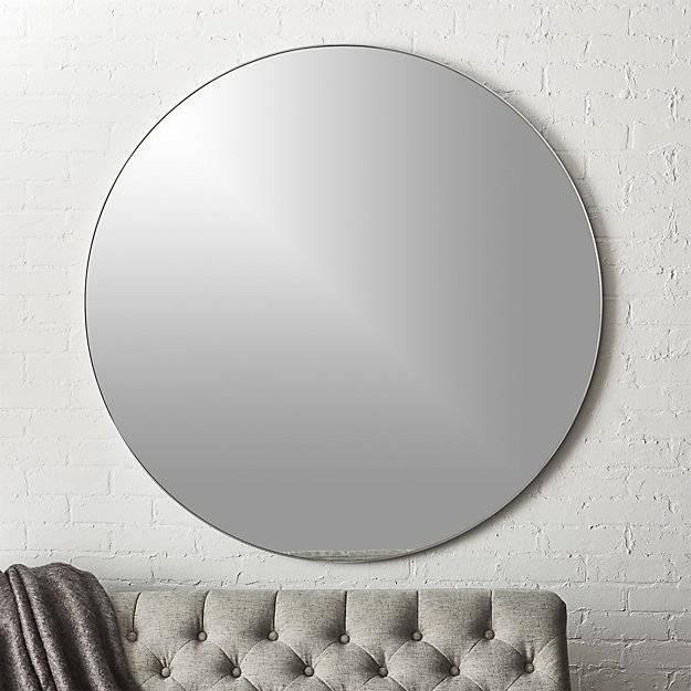 "Infinity Silver Round Wall Mirror 48""   Cb2 Regarding Silver Round Wall Mirrors (View 3 of 15)"