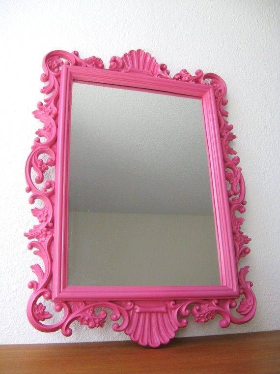 Innovative Decoration Pink Wall Mirror Warm 17 Best Ideas About For Girls Wall Mirrors (View 9 of 15)