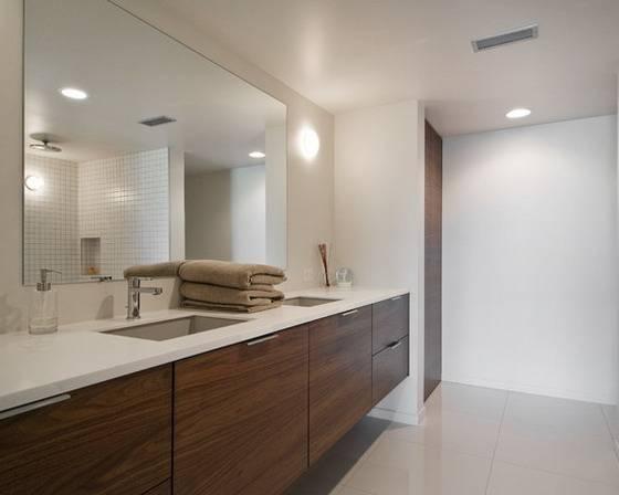 Popular Photo of Large Bathroom Wall Mirrors