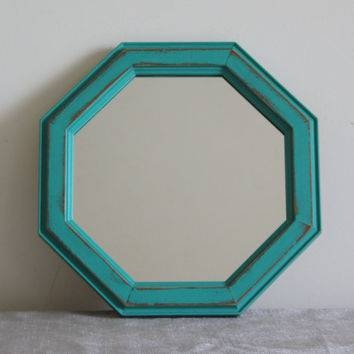 Interesting Decoration Turquoise Wall Mirror Surprising Wall Within Turquoise Wall Mirrors (#10 of 15)