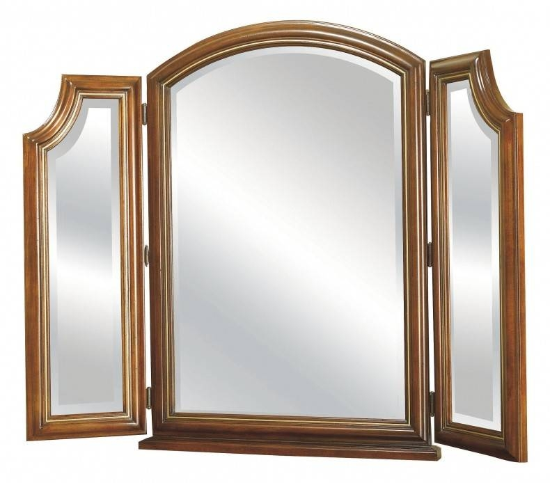 Interior: Appealing Trifold Mirror For Your Vanity Ideas Regarding Folding Wall Mirrors (#8 of 15)