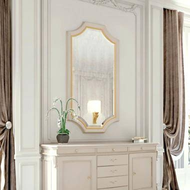 Italian Contemporary Wall Mirrors High End Modern Ivory Lacquered In High End Wall Mirrors (View 11 of 15)