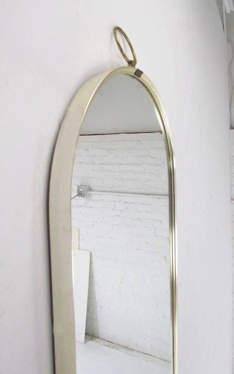 Italian Modernist Full Length Oval Wall Mirror, Circa 1960S At 1Stdibs Within Full Length Oval Wall Mirrors (#10 of 15)