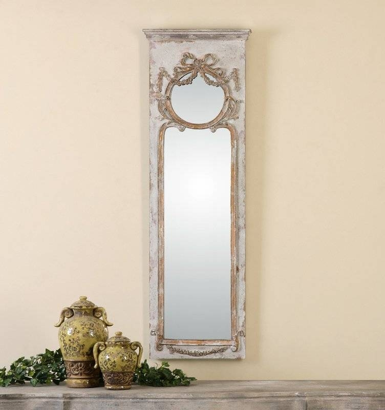 Ivory Ornate Frame Wall Mirror & Reviews | Birch Lane Regarding Ivory Wall Mirrors (#7 of 15)
