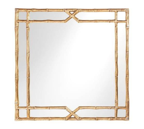 Jasmine Bamboo Mirror | Pottery Barn In Bamboo Framed Wall Mirrors (#5 of 15)