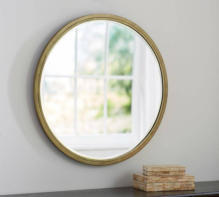 Jensen Wall Mirror – Round | Pottery Barn In Pottery Barn Wall Mirrors (#8 of 15)