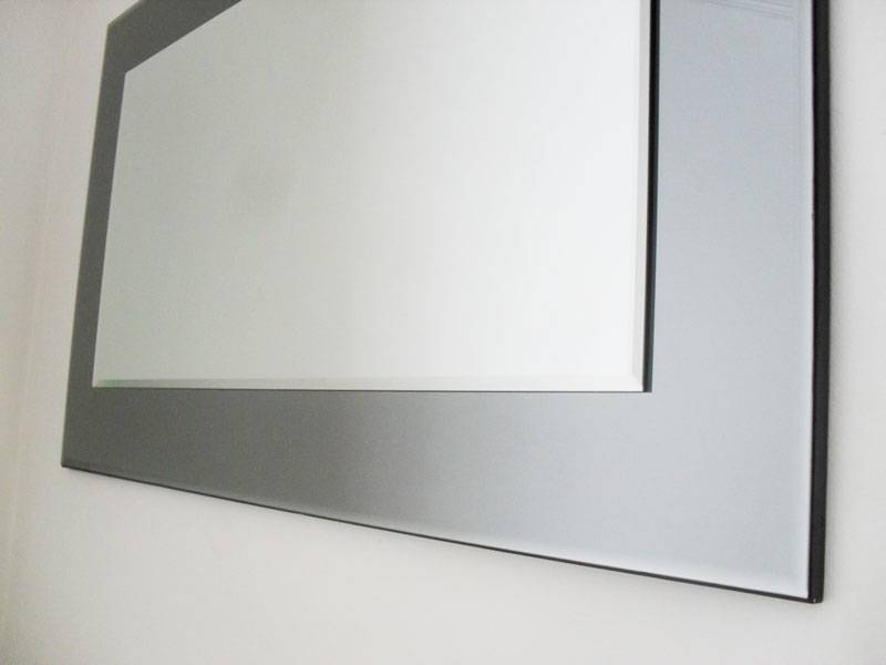 John Lewis Marietta Wall Mirror 100X61Cm Grey/smoked Glass With Grey Wall Mirrors (#9 of 15)