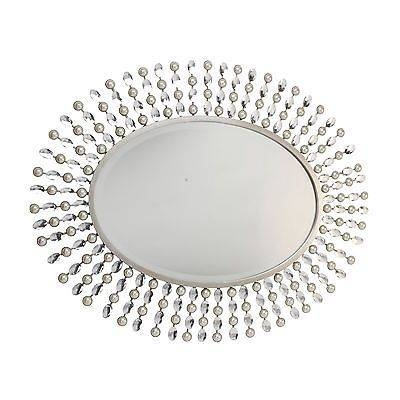 Juliana Metal Wall Mirror Oval Pearl Crystal Frame | Crystal Pertaining To Crystal Wall Mirrors (#9 of 15)