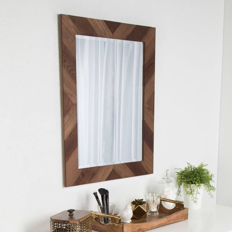 Kate And Laurel Wood Framed Wall Mirror & Reviews | Wayfair With Wood Framed Wall Mirrors (#7 of 15)
