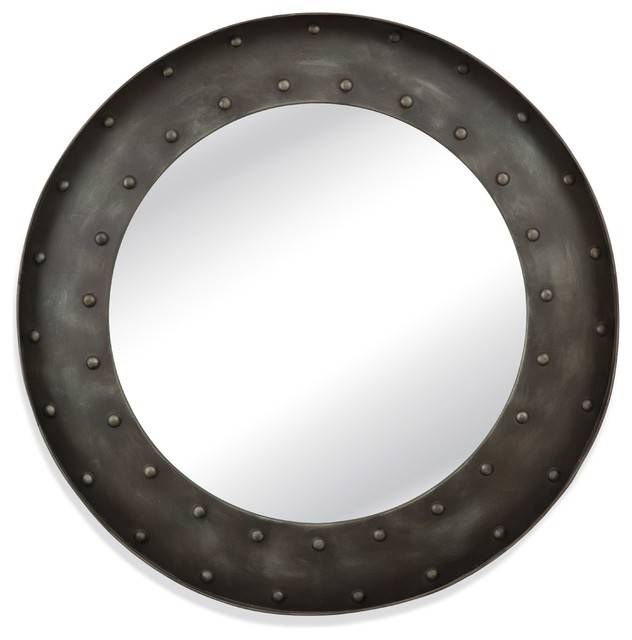 Kirk Wall Mirror – Industrial – Wall Mirrors  Bassett Mirror Co (View 13 of 15)