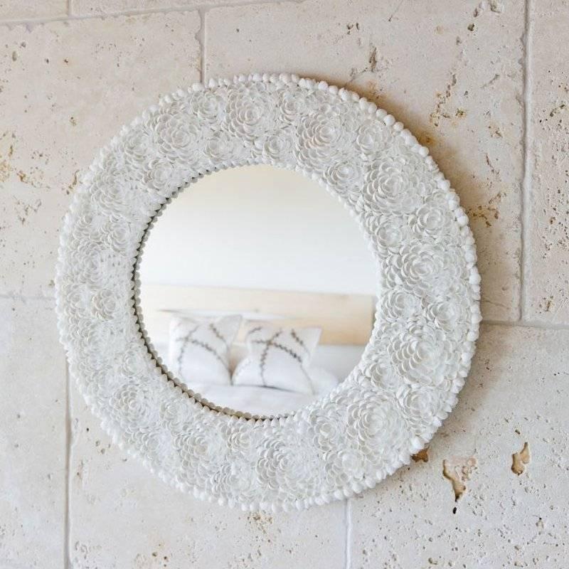 Kouboo Clamrose Seashell Wall Mirror & Reviews | Wayfair Intended For Seashell Wall Mirrors (#9 of 15)