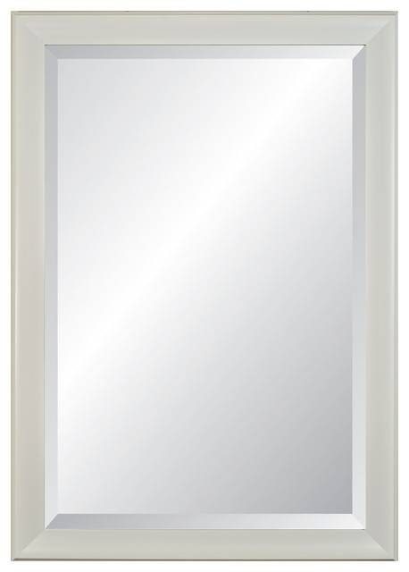"Lakeside Beveled, White Framed Wall Mirror, 28""x40"" – Transitional With White Framed Wall Mirrors (View 2 of 15)"