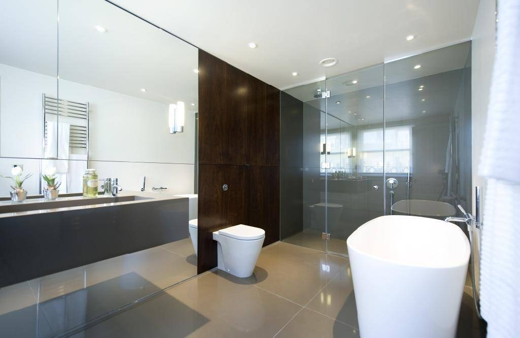 Large 11 Bathroom With Full Wall Mirror On Spectacular Full Length Within Large Bathroom Wall Mirrors (View 13 of 15)