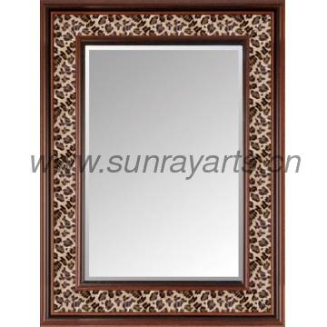 Large Decorative Wall Mirror /framed Mirrors With Leopard Pu Regarding Leopard Wall Mirrors (#5 of 15)