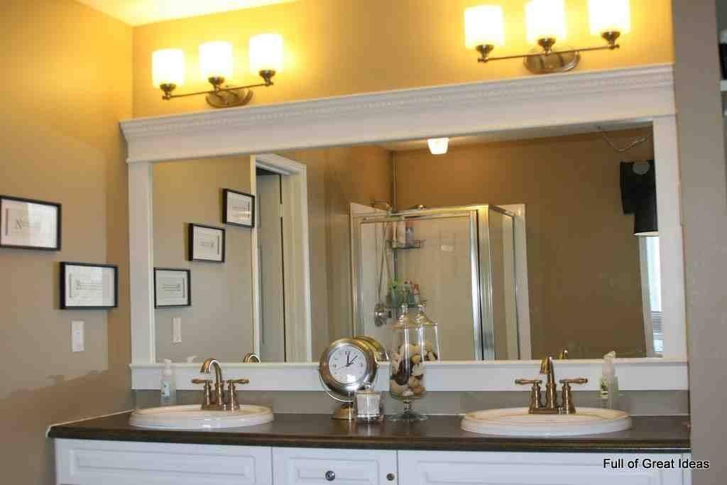 Large Framed Bathroom Wall Mirrors With Regard To Frames For Bathroom Wall Mirrors (#13 of 15)