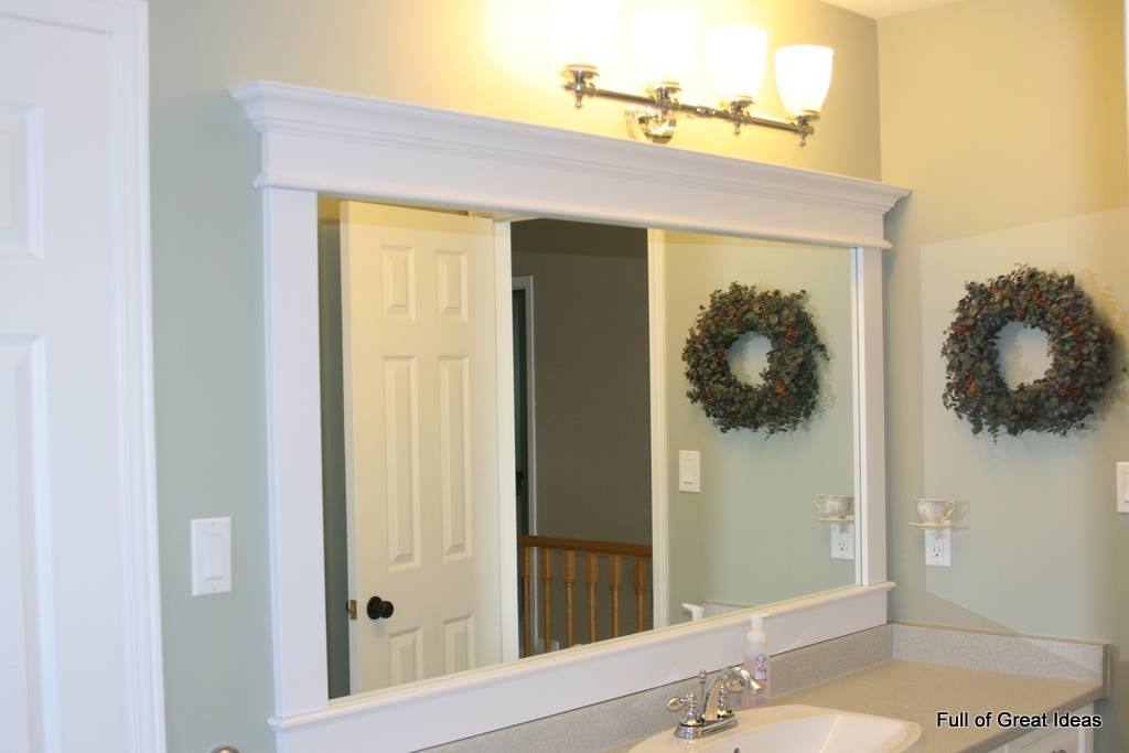 Large Framed Bathroom Wall Mirrors Within Frames For Bathroom Wall Mirrors (#14 of 15)