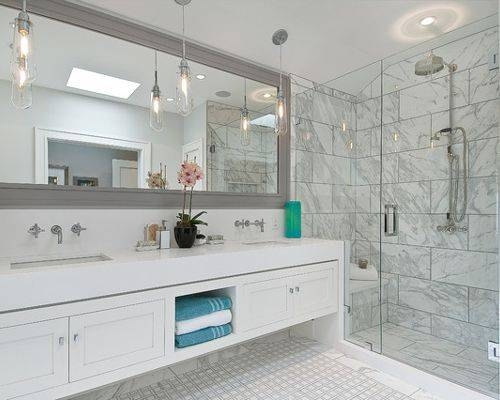 Large Framed Wall Mirror | Houzz In Large Framed Bathroom Wall Mirrors (#14 of 15)