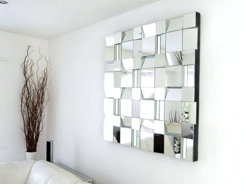 Large Panel Wall Mirrors Large Window Pane Mirror Large Panel Wall Throughout Multi Panel Wall Mirrors (#7 of 15)