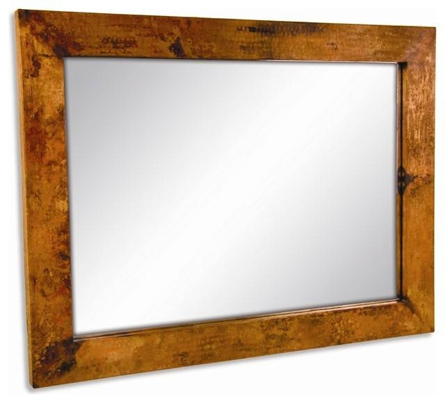 Large Rectangle Copper Mirror – Wall Mirrors Timeless Wrought Inside Copper Wall Mirrors (View 12 of 15)