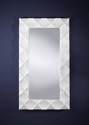 Popular Photo of White Frame Wall Mirrors