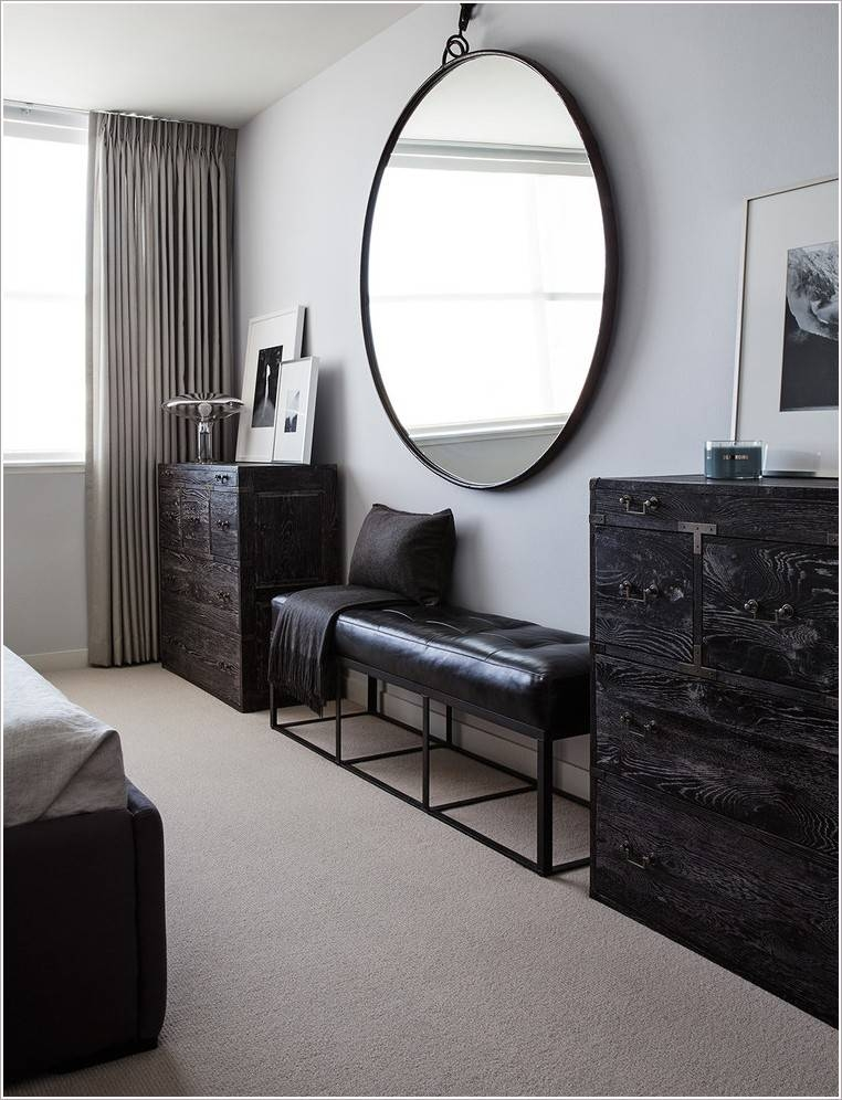Large Round Black Mirror – Round Designs Regarding Large Black Wall Mirrors (#11 of 15)