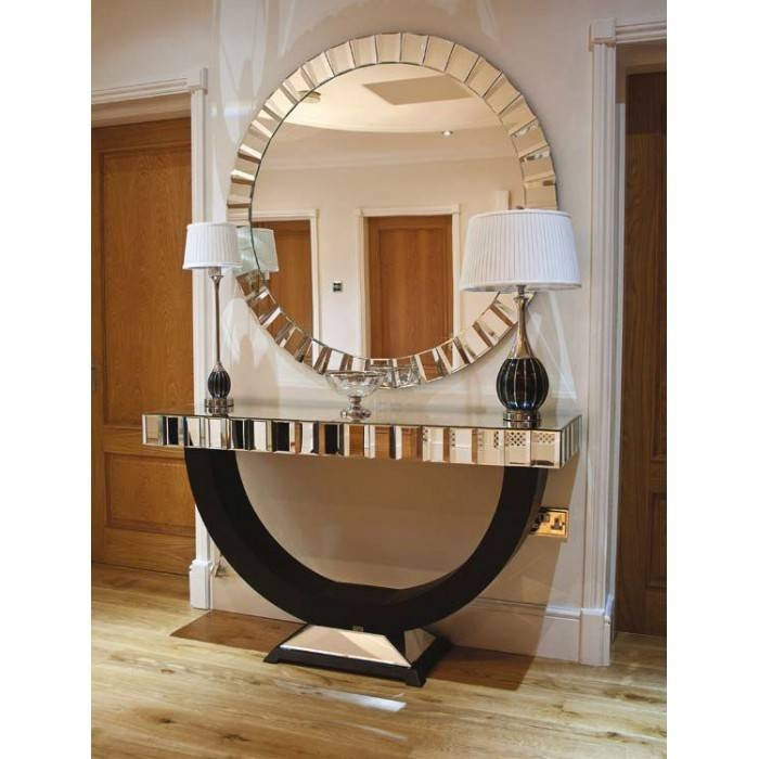 Large Round Foyer Mirror : Ideas of hallway wall mirrors