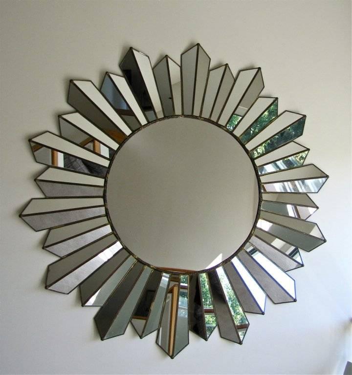 Large Soleil Sunburst Wall Mirror At 1stdibs Inside Sunburst Wall Mirrors (View 3 of 15)