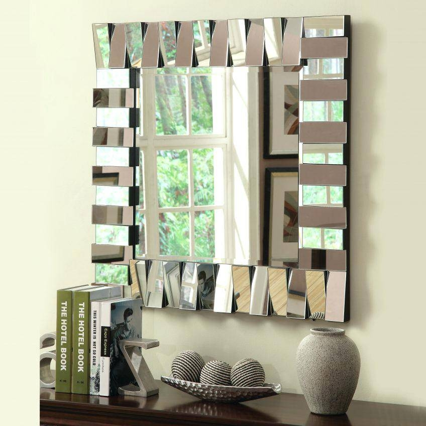 Large Square Wall Mirror – Designlee Within Large Square Wall Mirrors (#12 of 15)
