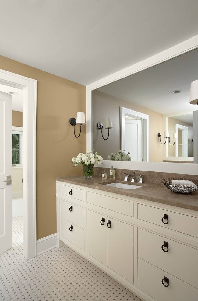 Large Wall Mirrors Bedroom Traditional With Baseboards Beveled In Large Beveled Wall Mirrors (View 9 of 15)