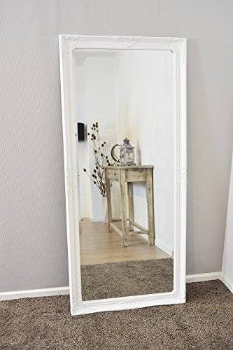 Large White Bevelled Full Length Dressing Wall Mirror 5Ft6 X 2Ft6 Inside Large White Wall Mirrors (#14 of 15)