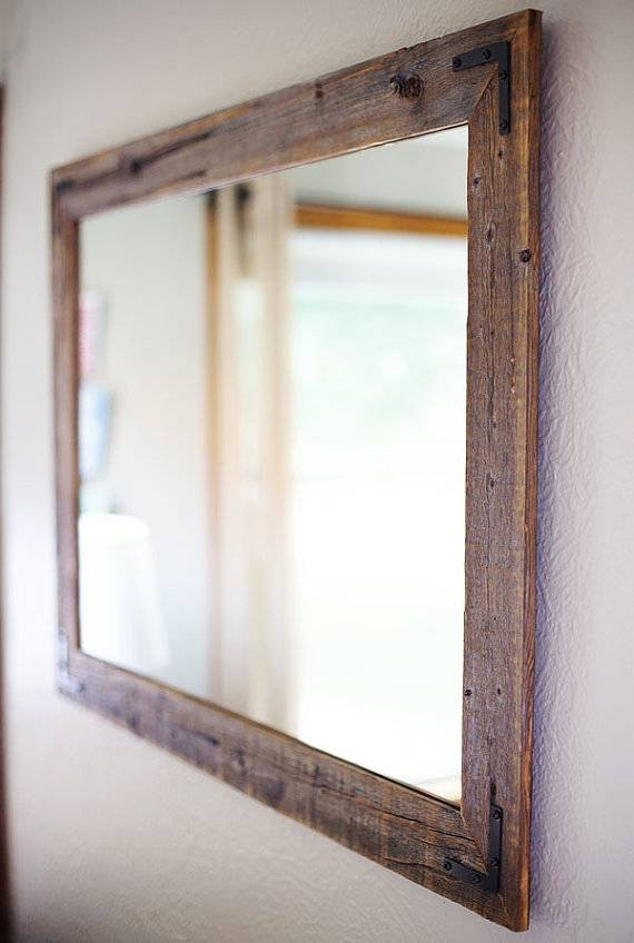 Large Wood Framed Wall Mirrors #2576 Pertaining To Large Framed Wall Mirrors (#14 of 15)